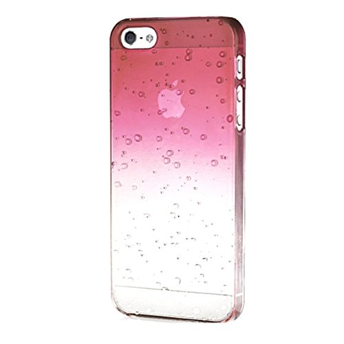 "iProtect Apple iPhone 6 (4,7"") Hülle Raindrop Hard Case Schutzhülle transparent pink Raindrop Case Rosa"