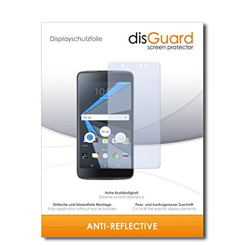 disGuard® Displayschutzfolie [Anti-Reflex] kompatibel mit BlackBerry DTEK60 [2 Stück] Entspiegelnd, Matt, Antireflektierend, Extrem Kratzfest, Anti-Fingerabdruck - Panzerglas Folie, Schutzfolie