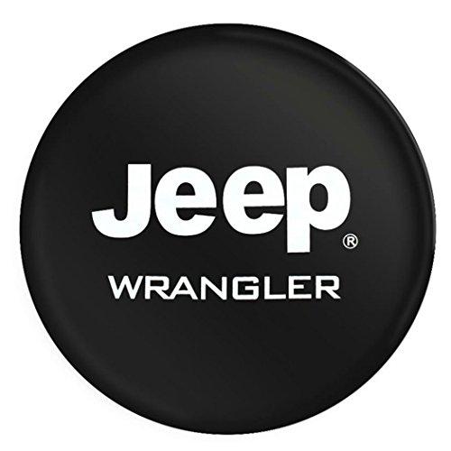 Jucarvo PVC Jeep RV Wrangler Housse de pneu de roue de secours pour Jeep R15 avec logo Spare Wheel Tire Protector Cover