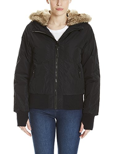Bench Damen Jacke Rich Look Bomber, Schwarz (Black Beauty Bk11179), X-Small (Pelz-bomber Faux)
