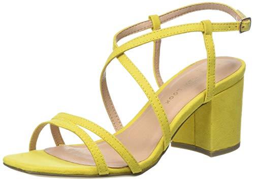 New Look Wide Foot Tacho, Sandali con Cinturino alla Caviglia Donna, Giallo (Bright Yellow 85), 40 EU