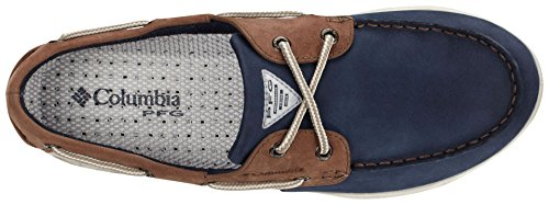 Columbia Herren Bonehead Vent Leather Pfg Slipper Multicolor (Collegiate Navy/Stone)