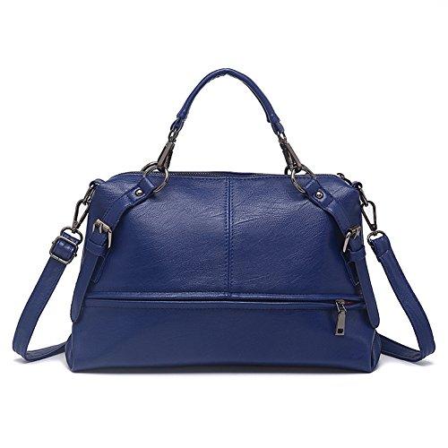Retrò moda Boston cuscino/Borse tracolla/Semplice one-shoulder bag Messenger/PU soft superficie Bulk Pack-E