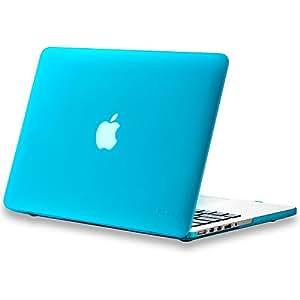"Kuzy - Retina 13-Inch AQUA BLUE Rubberized Hard Case Cover for Apple MacBook Pro 13.3"" with Retina Display Models: A1502 and A1425 (NEWEST VERSION) - AQUA BLUE"