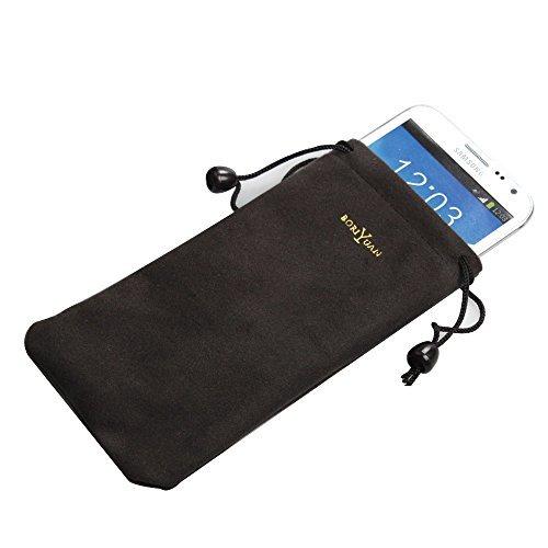 """BORIYUAN Handytasche Tasche Handysocken Sleeve Case Cover für Iphone 7 4.7"""", Iphone 7 5.5"""",Iphone 6 6S 4.7"""", Iphone 6 Plus 5.5"""",Samsung Galaxy S6 S6 edge S7, S7 edge,note 3, Note 4, HTC,HUAWEI,LG (aus Microfaser-Stoff, 17x9 cm)"""