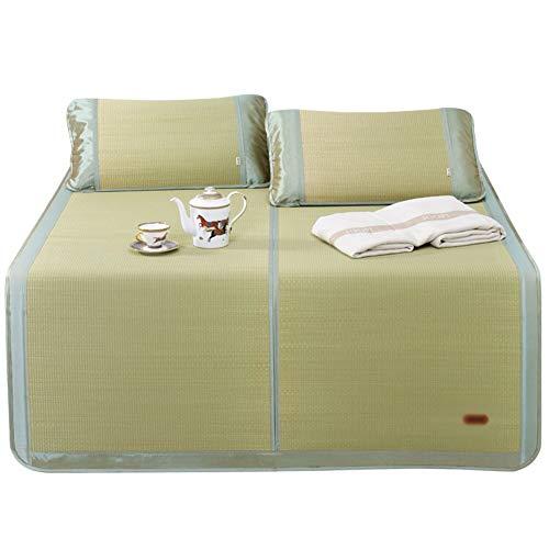 ZHAOHUI-Estera de dormir verano Cama para Estera De Bambú Agradable para La Piel Paja Enfriarse Respirable, 2 Estilos, 4 Tallas (Color : A-1.2x2.0m)
