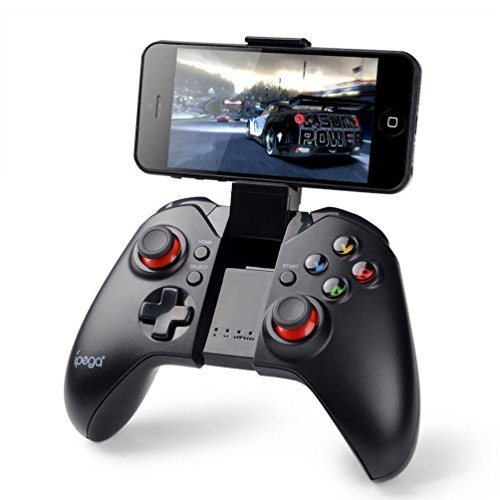 PowerLead Gapó mando clásico Bluetooth Wireless Gamepad del juego (con función de ratón) para PC Samsung MOTO HTC Addroid TV Box Tablet 412DE 2BIkHdL