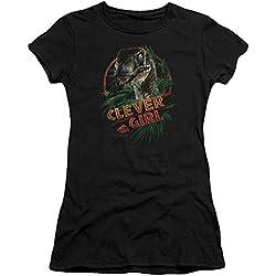 Jurassic Park - Mujeres Clever Girl T-Shirt En Negro, XX-Large, Black