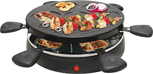 Raclette Grill mit 6 Pfännchen 1.200 Watt Party Grill Tischgrill