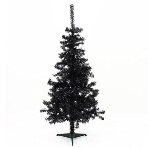 Sapin de Noël artificiel NOIR Hauteur 1m50 - 320 Branches - Qualité supérieur