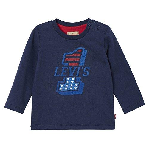 Baby First Tee T-shirt (Levi's Baby-Jungen T-Shirt LS Tee First, Blau (Dress Blue), 98)