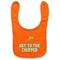 Get to the Chopper Funny Arnie eslogan Baby latzchen