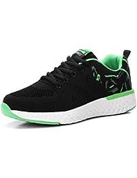 Mujeres Zapatos Deportivas Running Trekking Sneakers Cordones Ligero Respirable Mesh Shoes Fitness Negro Verde Purpura 35-41