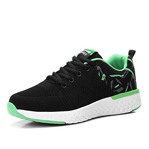 Scarpe da Ginnastica Donna Basse All'Aperto Running Sneakers da Corsa Fitness Sportive Stringate Traspirante Mesh Shoes Verde 41