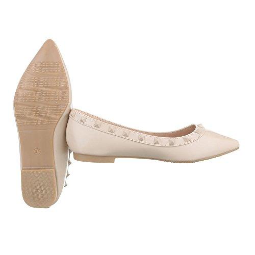 Ital Femininos design Bege Bloco Bailarinas As Vendas Fechou Xy02 Sapatos Em fR0dwqR