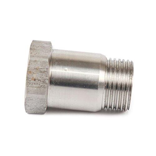 H2Racing O2/oxyg/ène en acier inoxydable Sonde Lambda Bouchons Bouchon Boulons /à t/ête hexagonale Fixation adaptateur M18/x 1.5/mm avec rondelle