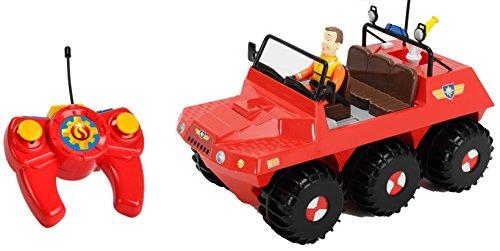 feuerwehrmann sam ferngesteuert Dickie Toys 203099620 - RC Feuerwehrmann Sam Hydrus, funkferngesteuert zu Wasser und zu Land, 30 cm