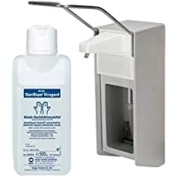 500 ml Dispensador de Pared Dispensador de aluminio cepillado Medi-Inn + 500 ml Accesorios
