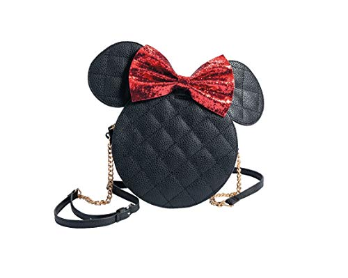 Disney Minnie Mouse Handbag Tote Shoulder Bag Bowknot Purse Black