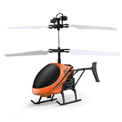 Holeider Mini Drohne Remote Control Ferngesteuerter Infrarot-Induktion Helikopter Drone Blinklicht Spielzeug für Anfänger Kinder (Orange)
