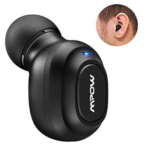 Mpow Auricolare Bluetooth 4.1+ EDR Mini Wireless Senza Fili con Gande Tasto, Bluetooth Auricolare Invisibile, Cuffia Bluetooth con...