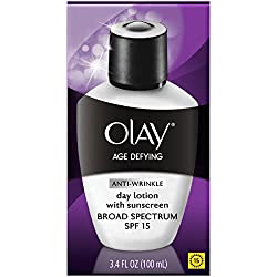 Olay Age Defying Anti-Wrinkle Day Face Lotion with Sunscreen Broad Spectrum SPF 15, 3.4 fl oz