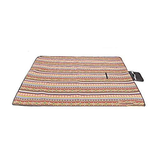 DADAO Manta Picnic Impermeable 200 X 200 Lavable,Alfombra Playa Bambu-para La Playa, Picnic, Acampa Y Otra Actividad Al Aire Libre,3,200x200cm