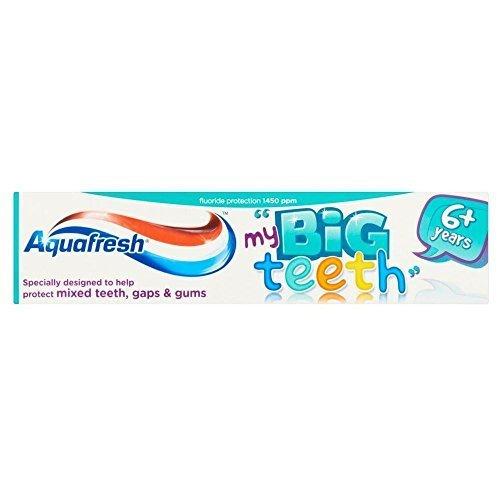 Aquafresh My Big Teeth Zahnpasta 6 Jahre + (50 ml) - Packung mit 2 - Aquafresh Tooth
