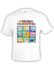 "Camiseta Hora de Aventuras ""Caretos"" manga corta (Talla: 5-6 años)"