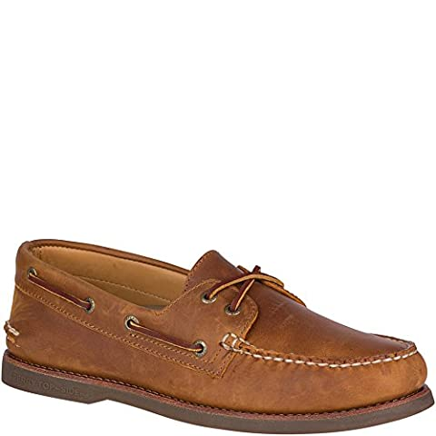 Sperry Top-Sider Men's Gold A/O 2-Eye Moc Toe Boat Shoe,Tan/Gum