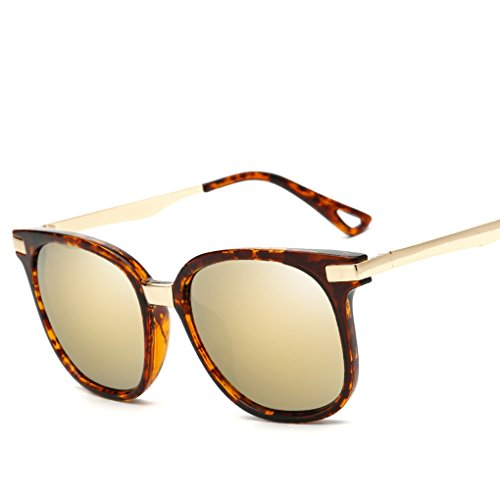 QHGstore Le donne da sole Retro Fashion Square Metallo Plastica Occhiali Oculos NO.4
