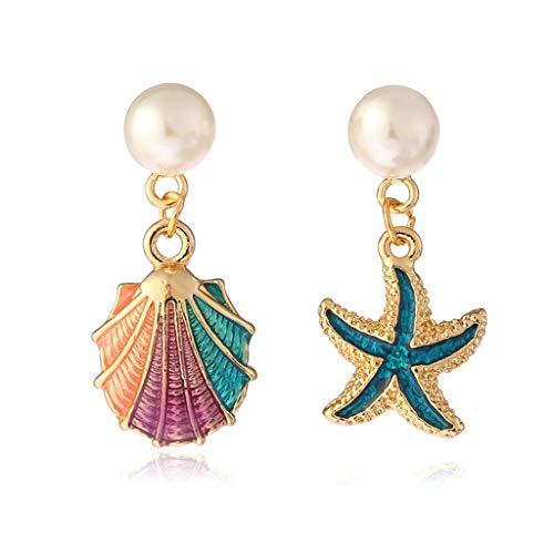 CADANIA Legierung Emaille Shell Ohrringe Frauen Schmuck Charms Gewinnen Lady Beach Party Starfish Unregelmäßige Baumeln Dekoration Geschenke Mädchen Exquisite Luxus Dekor