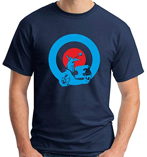 T-Shirt Hombre Azul Navy OLDENG00344 Mods Vespa