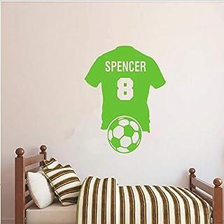 wort tasse Benutzerdefinierte Personalisierte Name Nummer Fußball Shirt Fußball Wandtattoo Vinyl Aufkleber Kid Boy Room European Cup 70 * 85 cm