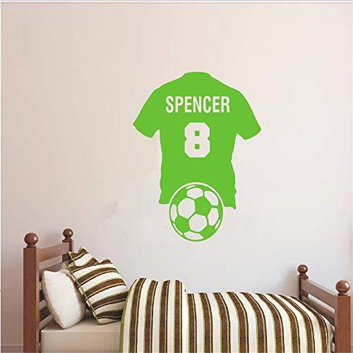 wort tasse Benutzerdefinierte Personalisierte Name Nummer Fußball Shirt Fußball Wandtattoo Vinyl Aufkleber Kid Boy Room European Cup 42 * 51 cm -