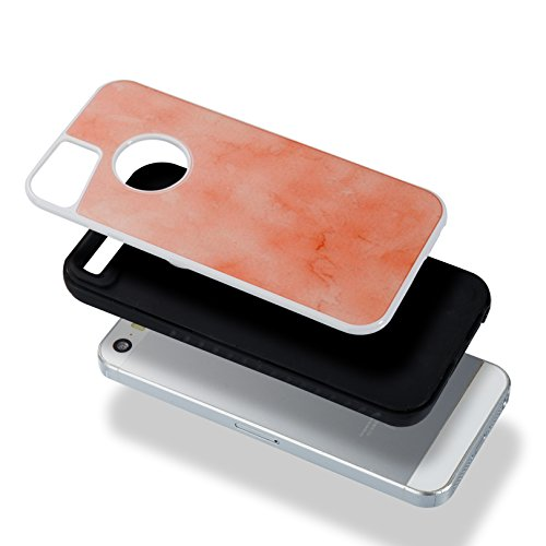 ARTLU® 2in1 Coque iPhone 6 6S (4.7), Coque Housse Case Bumper Étui Coque de Protection en TPU Silicone Ultra Slim Mince Léger Antichoc Housse Case iPhone 6 6S Coque Dessin Marbre-A05 A4