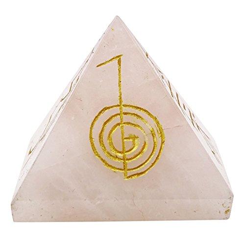 Harmonize Generador de Energia Simbolo curacion de Cristal de Cuarzo Rosa Piedra Piramide Reiki