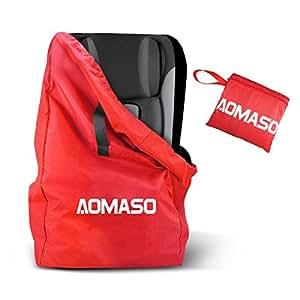 aomaso reisetasche rucksack mit band wasserabweisend f r kindersitze rollkoffer rot amazon. Black Bedroom Furniture Sets. Home Design Ideas