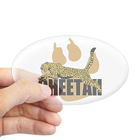 CafePress - Cheetah Power Oval Sticker - Oval Bumper Sticker Car Decal