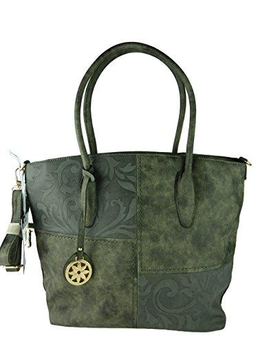 bella-belly-must-have-damen-handtasche-henkeltasche-uni-mit-muster-langer-schultergurt-41x30x12cm-gr