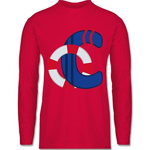 Shirtracer Anfangsbuchstaben - C Schifffahrt - Herren Langarmshirt Rot