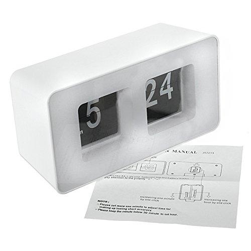 FreshGadgetz Desktop Retro Flip Schreibtisch Uhr, Retro Flip Clock, Flip Wecker, Digital Flip Clock, Stilvolle Uhr, Vintage Flip Uhr Digitale Flip-uhr
