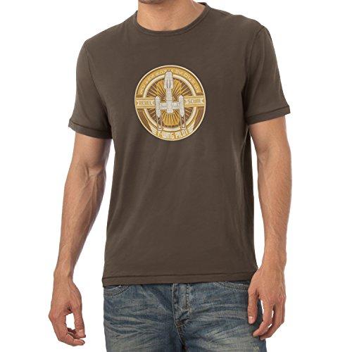 TEXLAB - Y-Wing Pilot Logo - Herren T-Shirt Braun