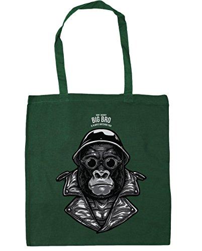 men Strandtasche, grün, 90010-DTG-TOTE-Bottle Green (Cute Monkey Tattoos)