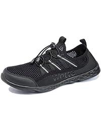 Ranberone Zapatos de Verano de Malla Ligera para Hombre Zapatos de Agua Transpirables de Secado Rápido Zapatos de Playa para Casuales y Deportivas Tallas 40-50