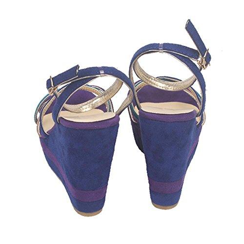 GJDE Sandali Ultra-Alto Cuneo Femminile Bella Estate con i Sandali col Tacco alto Scarpe Impermeabili a