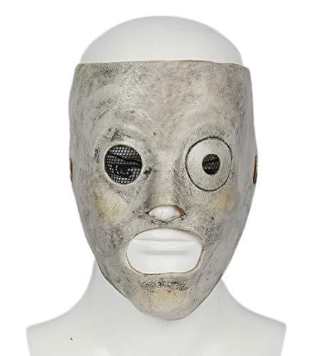 Mesky Halloween Maske Slipknot Corey Taylor Mask Cosplay Kostüm Zubehör Deluxe Umweltfreundliches Horror Latexmaske Einstellbare Größe Leicht Stabil Bequem Maske ()