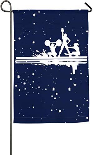 N/A Yoga-Garten-Flaggen-lustige Hochzeitstag-Flaggen-Frühlings-Sommer-dekorative Flagge der körperlichen Übung -