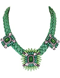 "Fashionvictime - Mujer Collar - ""Monaco"" - Metal Rodiado - Algodón, Plástico - Cristal - Joyeria Fashion -"