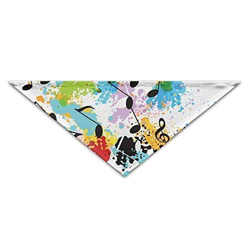 Gxdchfj Music Symbol Graffiti Triangle Pet Scarf Dog Bandana Pet Collars for Dog Cat - Birthday Bandana Bibs Triangle Head Scarfs Accessories